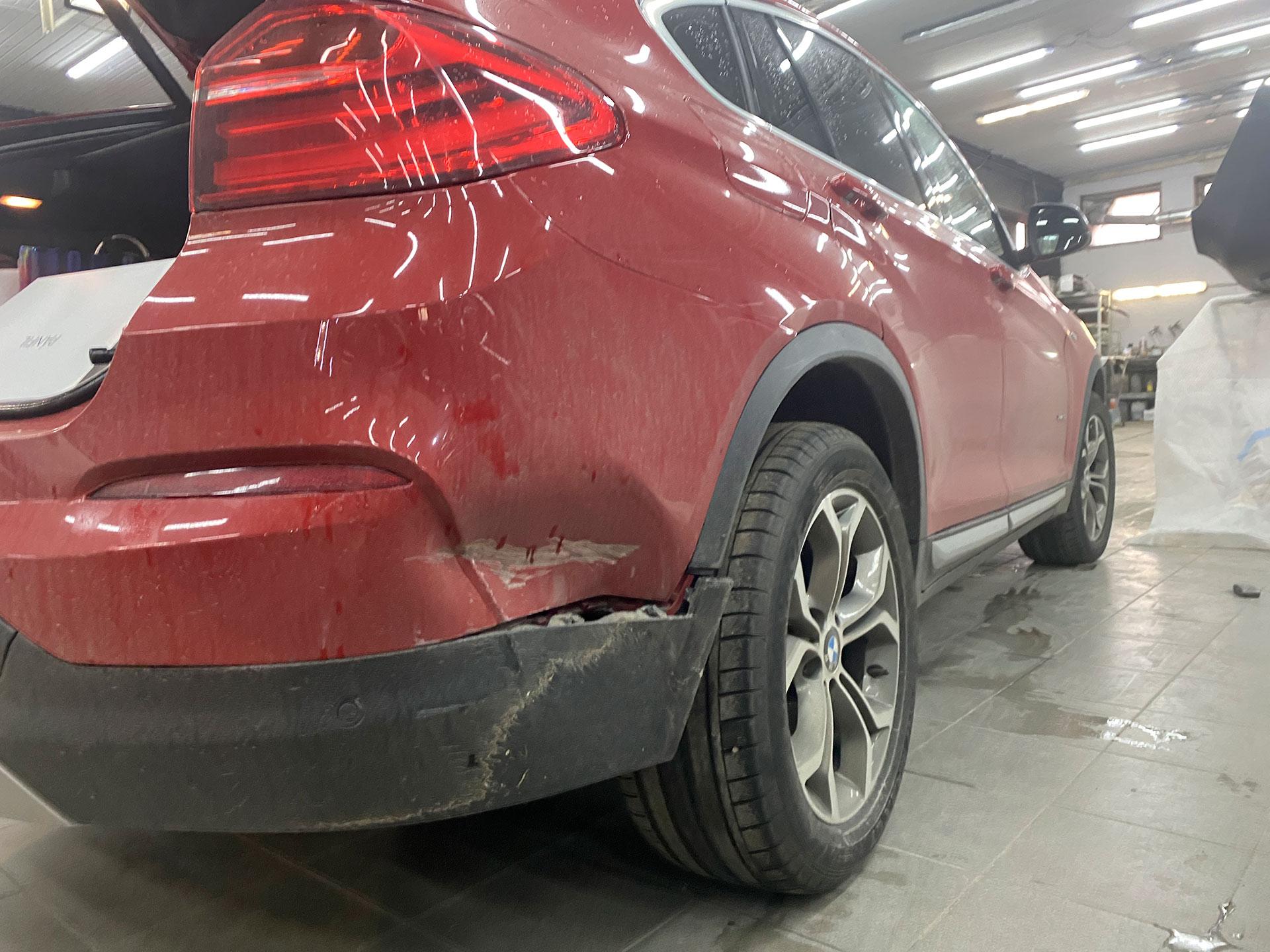 Ремонт и окрас заднего бампера на BMW x4