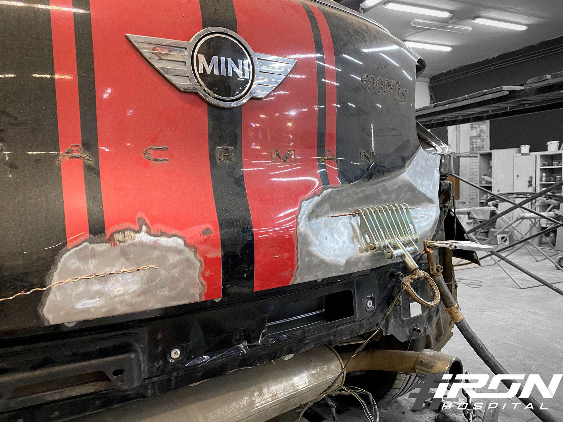 Ремонт крышки багажника Mini Cooper