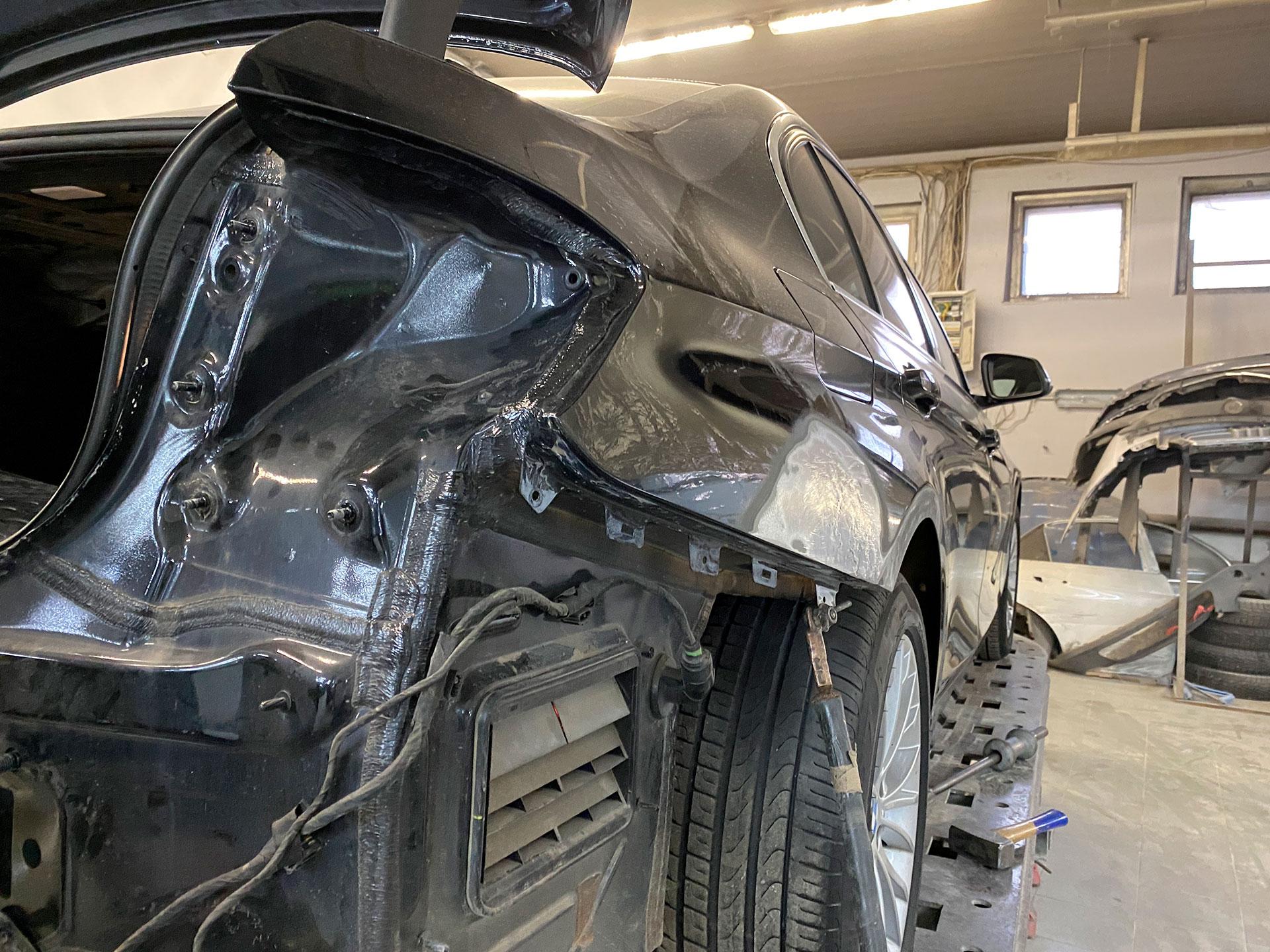 Ремонт заднего правого крыла BMW f30