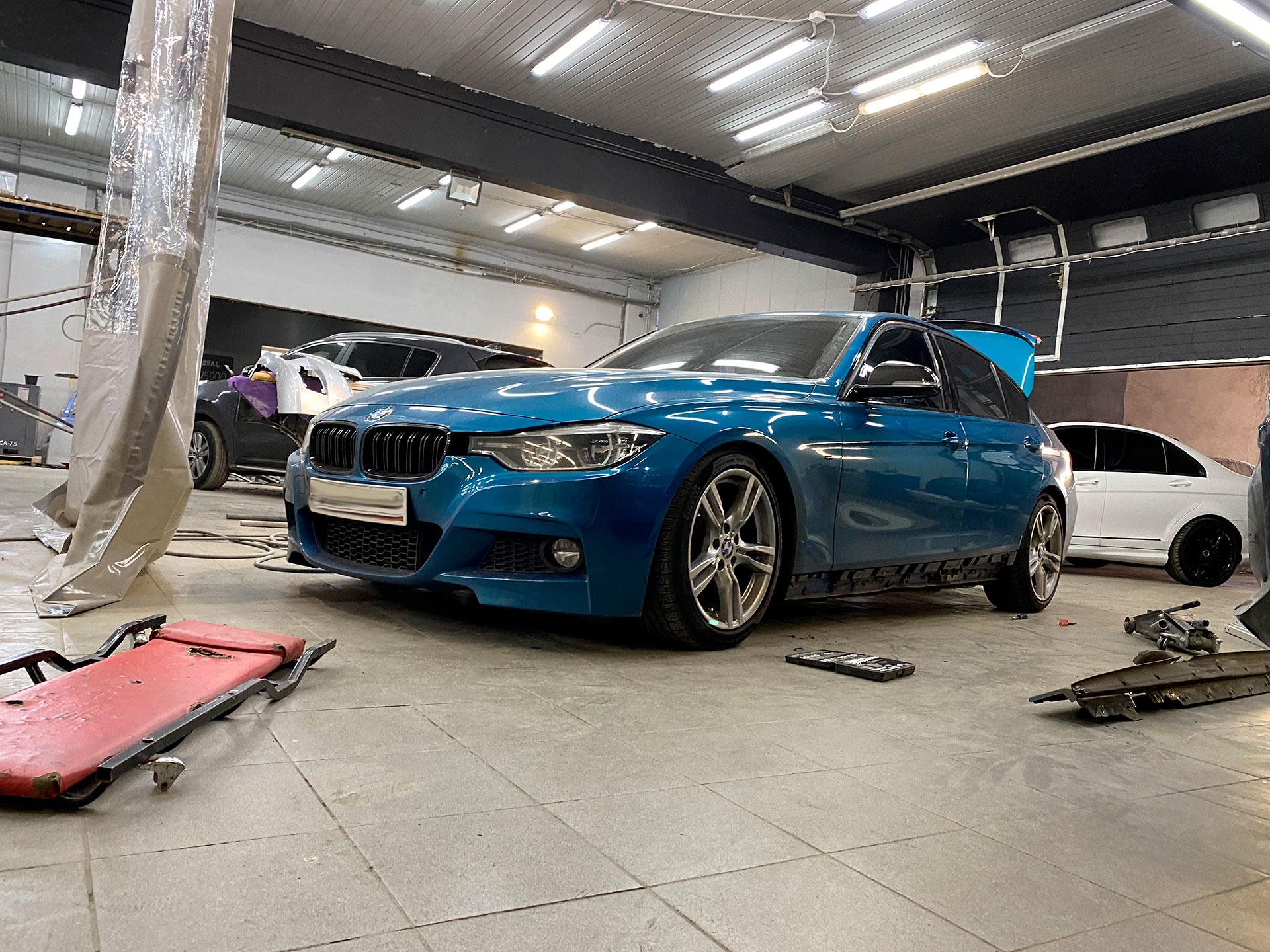 Полный окрас BMW f30 в индивидуальный цвет