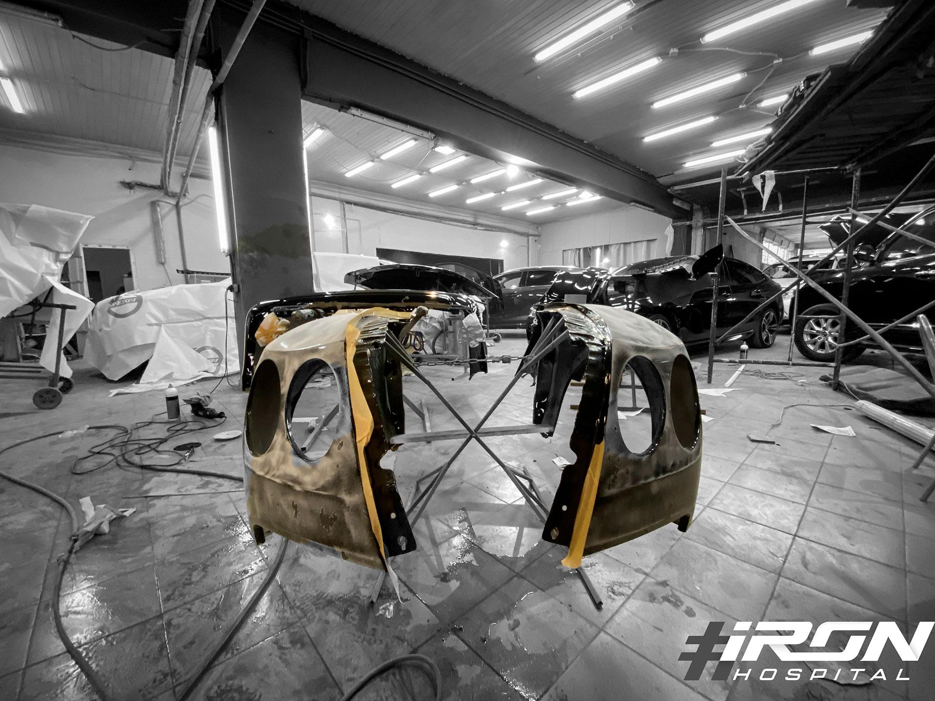 Кузовной ремонт крыльев на Bentley